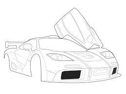 drawing a car lineart in photoshop