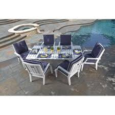 Patio Furniture 7 Piece Dining Set - seaview 7 piece patio dining set