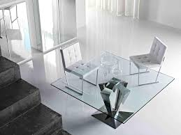 contemporary square glass coffee table fascinating chrome base contemporary dining tables ideas