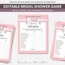 bridal shower scattergories categories game make your own