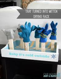 tray redo challenge diy wet mitten dryer rack u2022 our house now a home