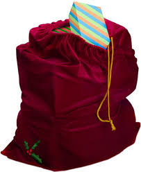 santa sacks santa suits bag with an embroidered accent 3989sw