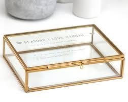 Personalized Keepsakes Glass Keepsake Box Etsy
