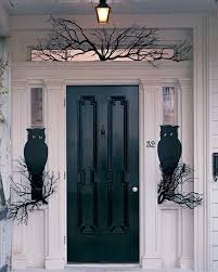 outside halloween crafts owl night watchers front doors outdoor halloween decorations