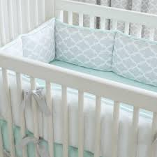 Grey And Green Crib Bedding Gray And Mint Quatrefoil Crib Bedding Carousel Designs