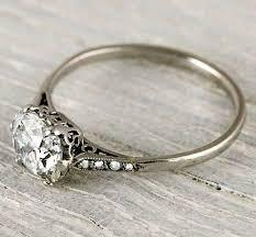 1 carat cushion cut vintage engagement ring new york vintage