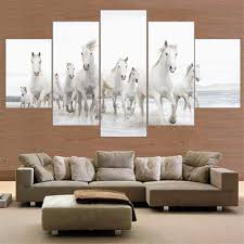 online get cheap horses art aliexpress com alibaba group unframed horse canvas painting animal posters and prints home decor wall painting for room 5 piece