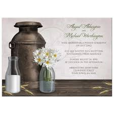 Reception Only Invitations Only Invitations Rustic Country Dairy Farm