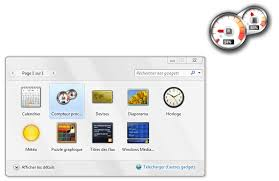horloge de bureau windows windows 7 comment retrouver les gadgets vista clubic