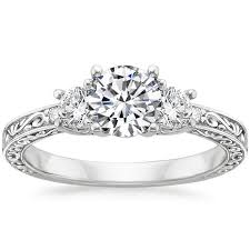 engagement rings vintage style filigree rings brilliant earth