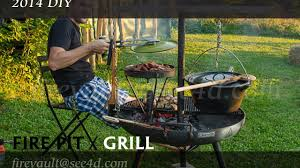Firepit And Grill by Diy 2014 Fire Pit Grill Fabrication Youtube