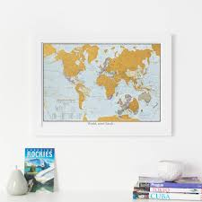 World Map Prints by Personalised Street Map Print Gifts Notonthehighstreet Com