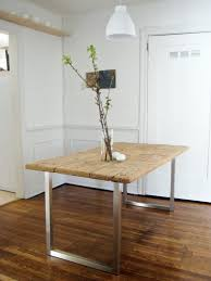 U Shaped Table Legs Diy An Old Meets New Dining Table For Under 125 Remodelista