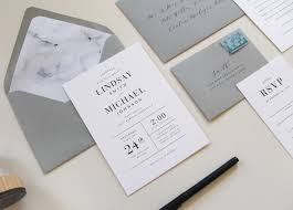 wedding invitation set modern marble wedding invitations two