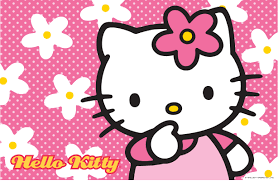 hello kitty wallpaper with floral pink background wallpapers and