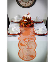 Fall Table Runners by Fall Into Color 72 U0027 U0027x14 U0027 U0027 Lace Table Runner Rust Orange Pumpkin