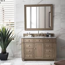 48 single sink vanity with backsplash bristol 48 single sink bathroom vanity in white washed walnut by