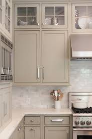 greige kitchen cabinets with tile backsplash classic and neutral