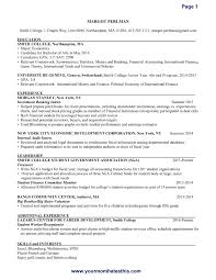 Best Example Of Resume Format by Best Resumes Format Resume Example