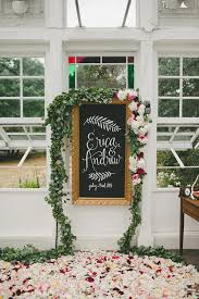 wedding backdrop sign 40 ways to decorate your wedding with floral garlands