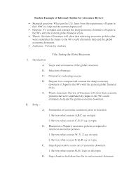 literature review sample format