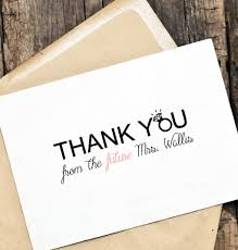 personalized thank you cards bridal shower thank you wedding card set thank you from the