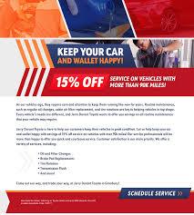 details of toyota showroom 90k service offer
