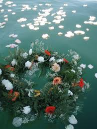 scattering ashes at sea sea burial wreath search memorial wreath