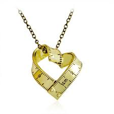 s day charm necklace new rotate ruler metal necklace heart charm necklaces