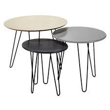 nest of 3 coffee tables w 40 60cm graphik maisons du monde