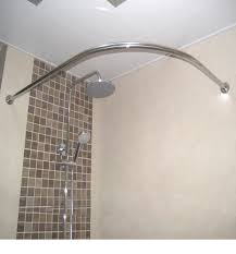 rotating curved shower curtain rod best shower curtain ideas