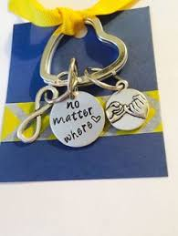compass keychain no matter where key chain hand stamped keychain