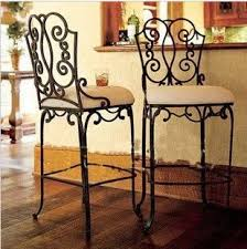 European High Chair by The New European Designer Furniture Wrought Iron Bar Chairs Bar