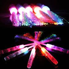 glow party supplies 2018 light up glowing optical fiber sticks led wand stick