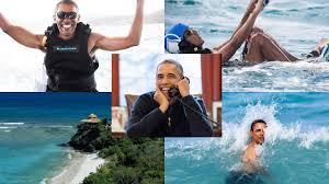 former president barack obama kitesurfing with richard branson