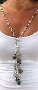 diy necklace charms images Necklace with interchangeable drop charm note the lobster claw jpg