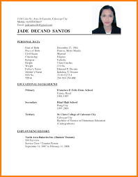 Resume Sample Format For Ojt by Resume Sample Jollibee Crew Resume Ixiplay Free Resume Samples