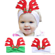 christmas hair accessories baby antler hairband 3d deer horn headband for infants