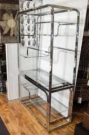Room Divider With Shelves Midcentury Milo Baughman Chrome Room Divider Or Shelves At 1stdibs