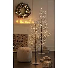 member s pre lit branch trees set of 2 assorted colors