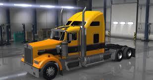 kenworth w900 truck gold black american truck simulator mod
