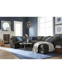brown collection ainsley fabric sectional collection created for macy s furniture