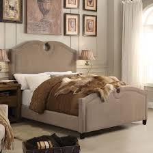 alton eilo linen upholstered queen bed in mocha at g23g24r062