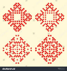 baltic patterns latvian ornaments vector illustration stock vector