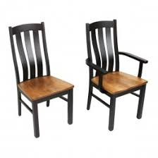 amish made dining room chairs sturdy solid wood country lane