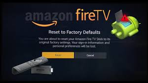 how to restore amazon fire stick 2017 reset to factory defaults