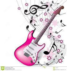 wallpaper pink guitar pink guitar stock vector illustration of electric sound 12356935