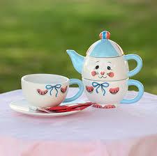 bunny tea set easter bunny brew personal tea set ilovetocreate