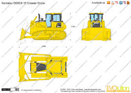 the blueprints com vector drawing komatsu d65ex 16 crawler dozer