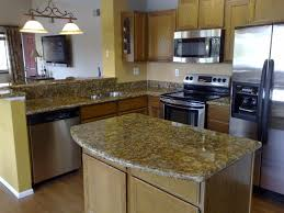 countertop options and natural wooden kitchen table with dark